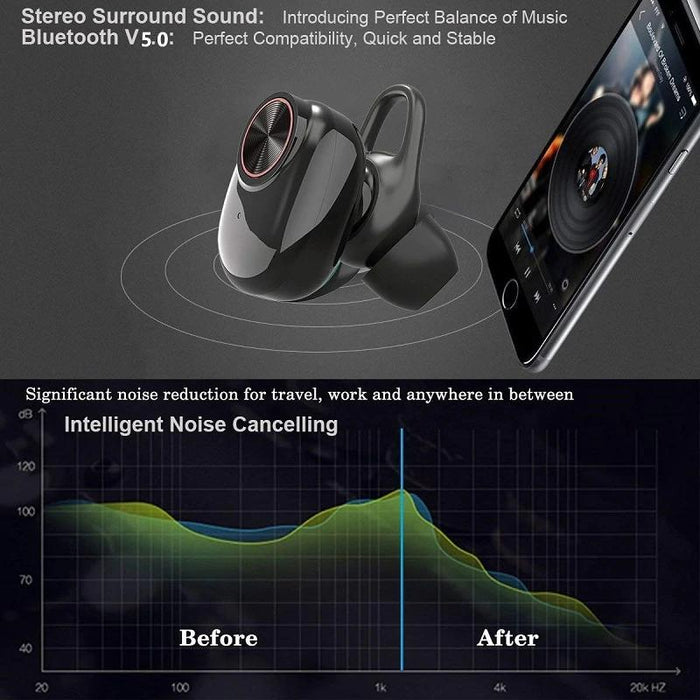 Wireless headphones V5 with Powerbank, Bluetooth 5.0