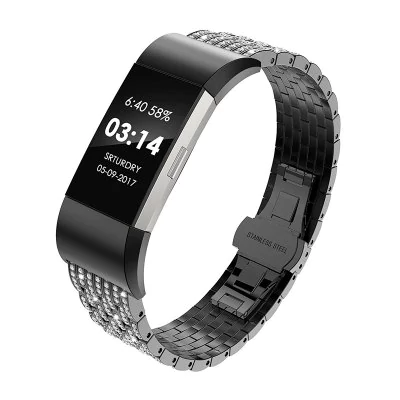 Stainless steel crystals Fitbit / Fitbit Charge 2
