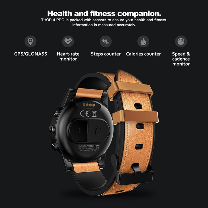 Smart watch Zeblaze Thor 4 PRO with 5MP camera, Heart rate monitor, 4G, GPS, Android 7.1.1, RX Edition
