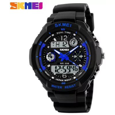 Men waterproof analog-digital LED watch Skmei 0931