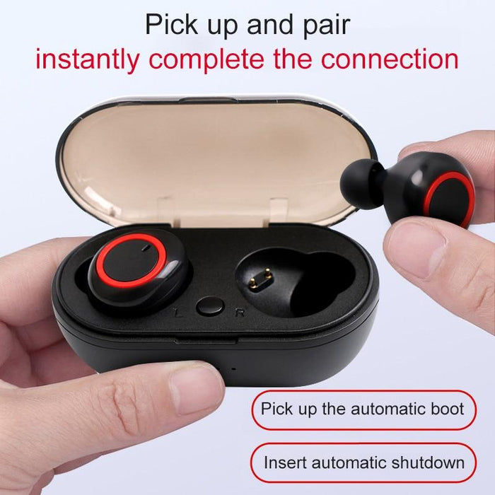 Wireless Headset RQ17 Bluetooth IPX5 Noise Canceling, Powerbank