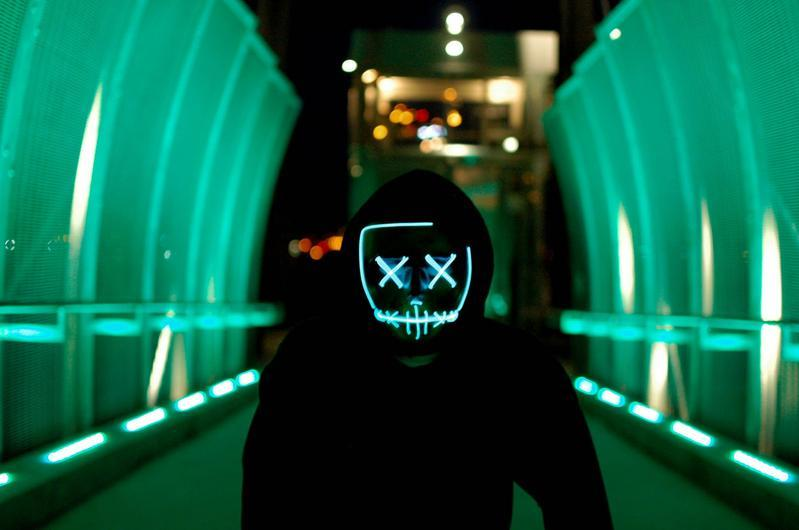 Purge Skull LED Mask for Halloween, Party, New Year, Birthday