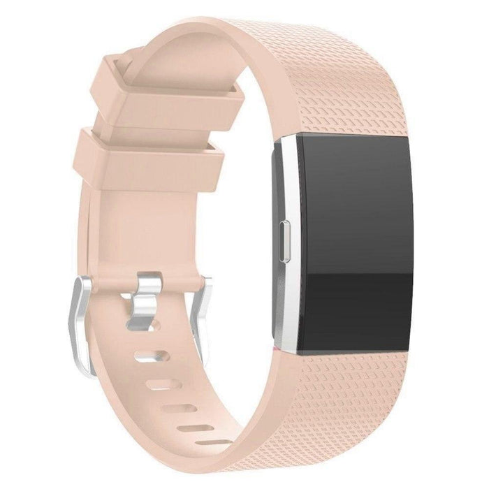 Light pink silicone strap Fitbit / Fitbit Charge 2