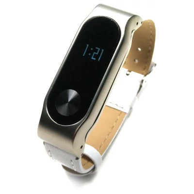 Leather strap with metal body to Xiaomi Mi Band 2