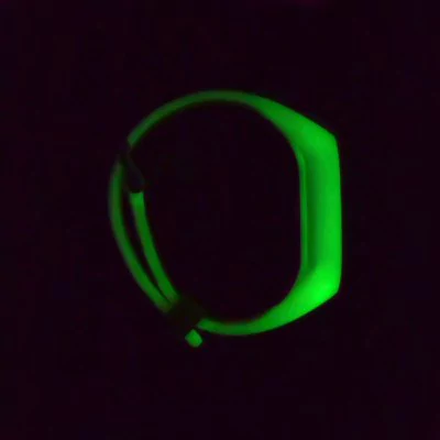 Illuminating in the dark green breathable strap Xiaomi Mi Band 2