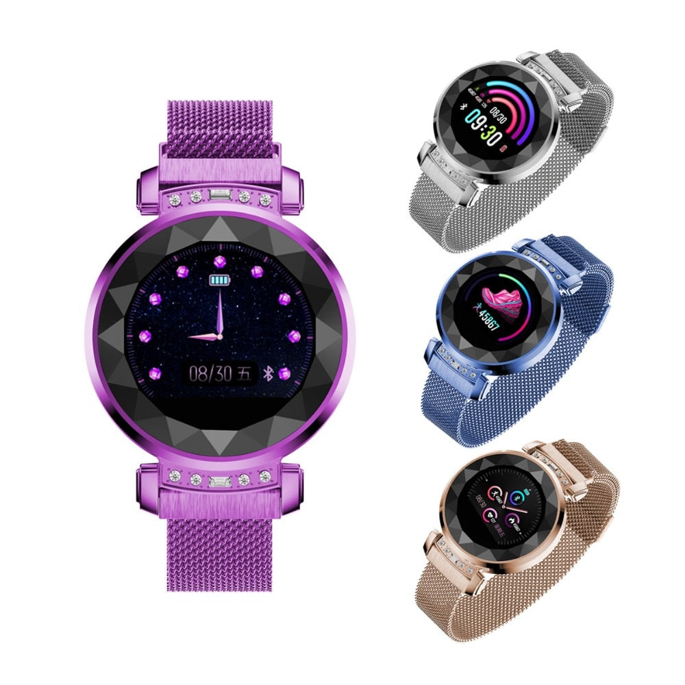 Women's Smart Watch Vektros H2 3D Glass, Heart rate, Blood pressure, Pedometer, Water resistance