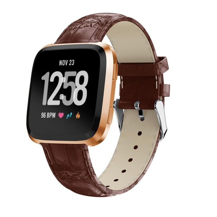 Leather strap Fitbit / Fitbit Versa