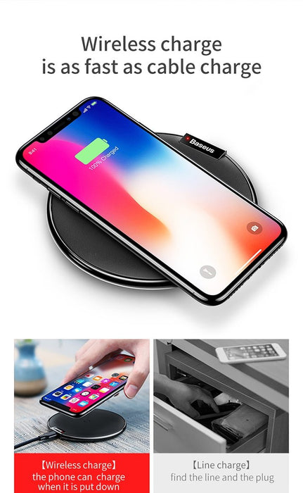 Baseus Qi Wireless Charger for iPhone, Samsung, Huawei