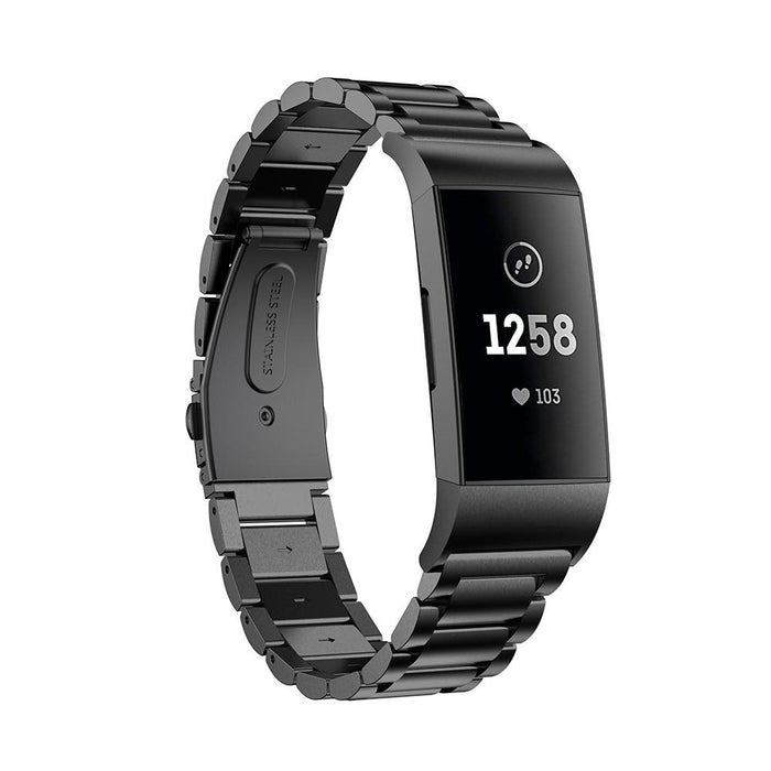 Metal strap stainless steel watch for Fitbit Charge 3
