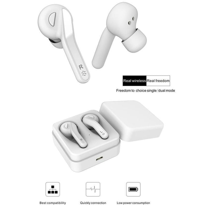 Wireless headphones RX6 box with charging TWS, Bluetooth 5.0, HIFI, SuperBass