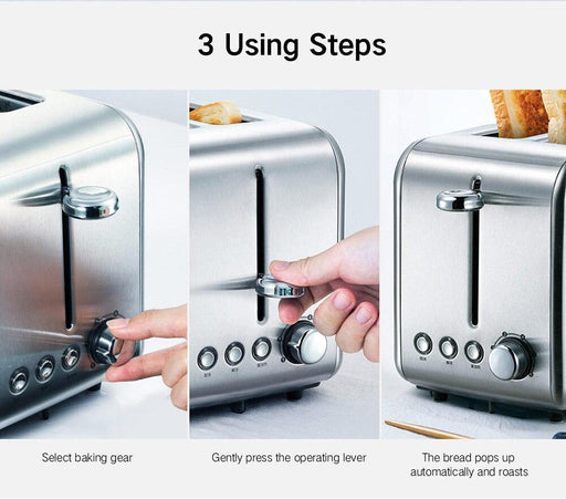 Electric toaster bread stainless steel