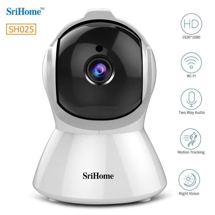 IP camera Sricam SH025 Smart Home Wifi 1080P, ONVIF, night vision, internal mounting, rotating, follow a subject