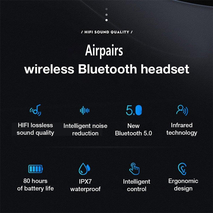 Wireless Headset G01 TWS Super Bass, infrared proximity sensor, Bluetooth 5.0, waterproof IPX7