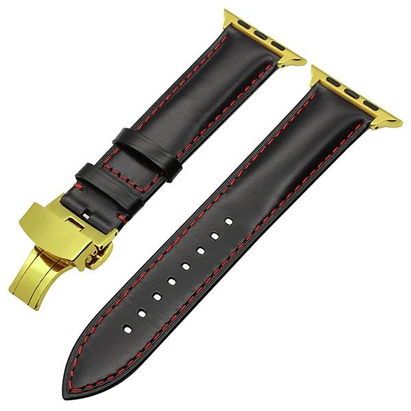 Leather strap from Italian leather for Apple Watch 5/4/3/2/1 40mm