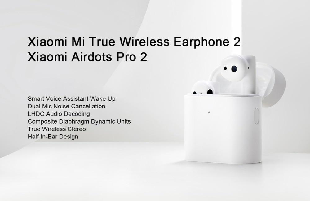 Wireless headphones Xiaomi Airdots 2 Pro, Bluetooth 5.0, IPX4 waterproof, touch control