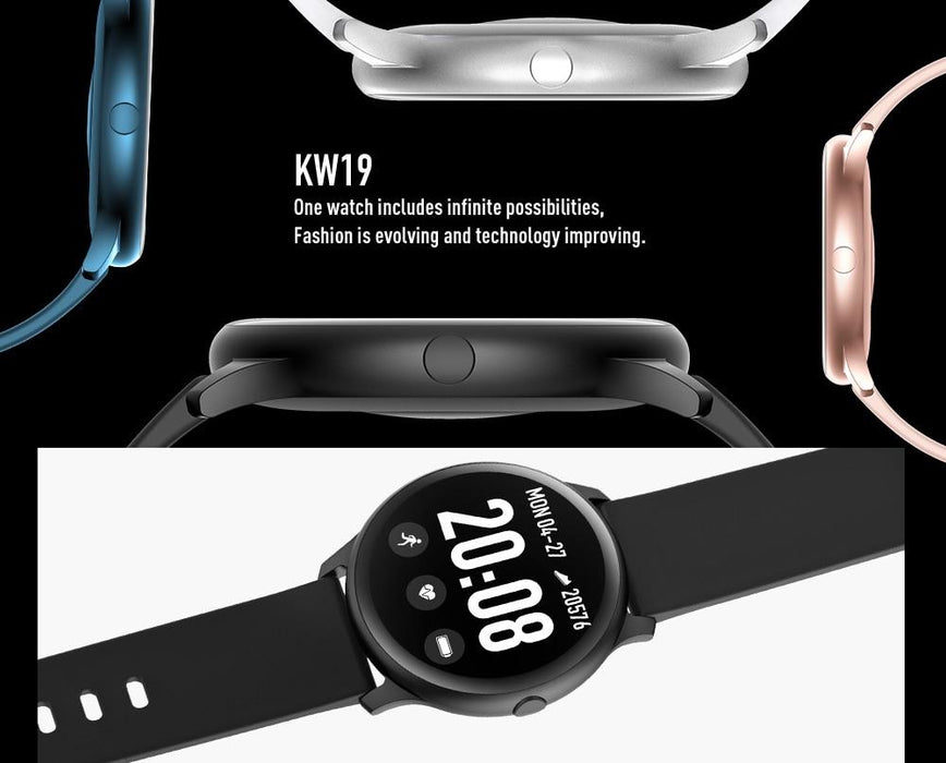 Smart watch Vektros KW19, IP67 waterproof, Blood pressure, 240x240