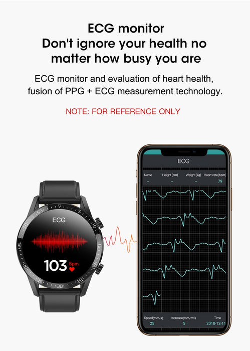 Magnetic smart clock Vektros VL13C ECG, PPG, Bluetooth, Make a call and dial from the phone, heart rate, Messages, Reminders
