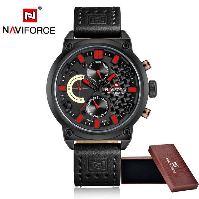 Waterproof male quartz watch NAVIFORCE 9068