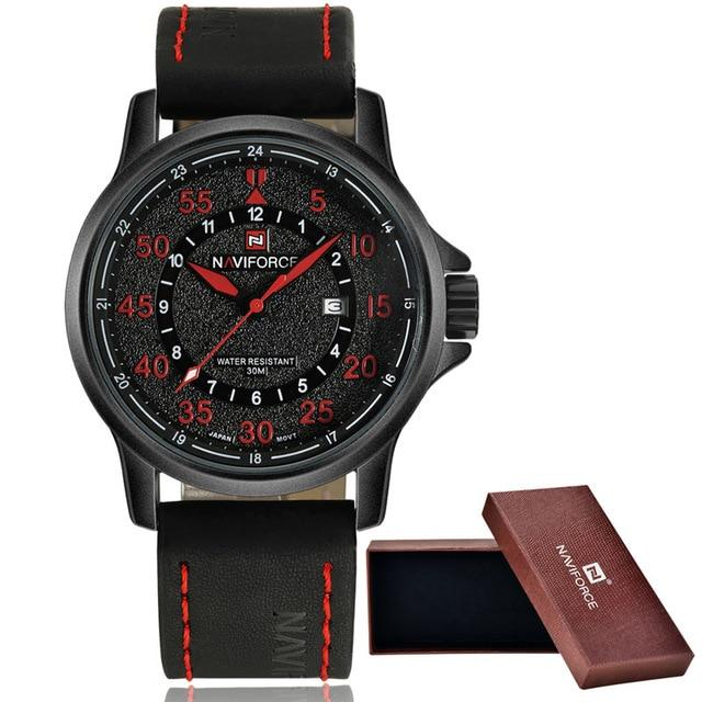 Men's waterproof quartz watch NAVIFORCE 9076