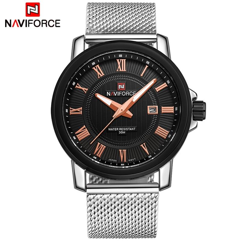 Waterproof male quartz watch NAVIFORCE 9052
