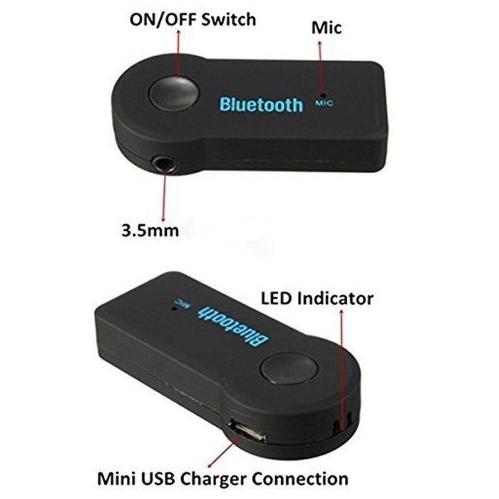 Bluetooth receiver for the car, headphones and home systems with microphone