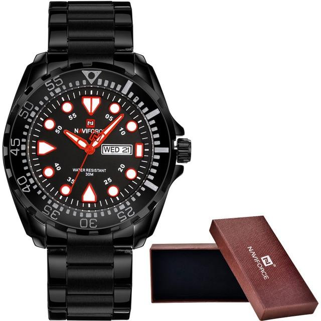 Waterproof male quartz watch NAVIFORCE 9105