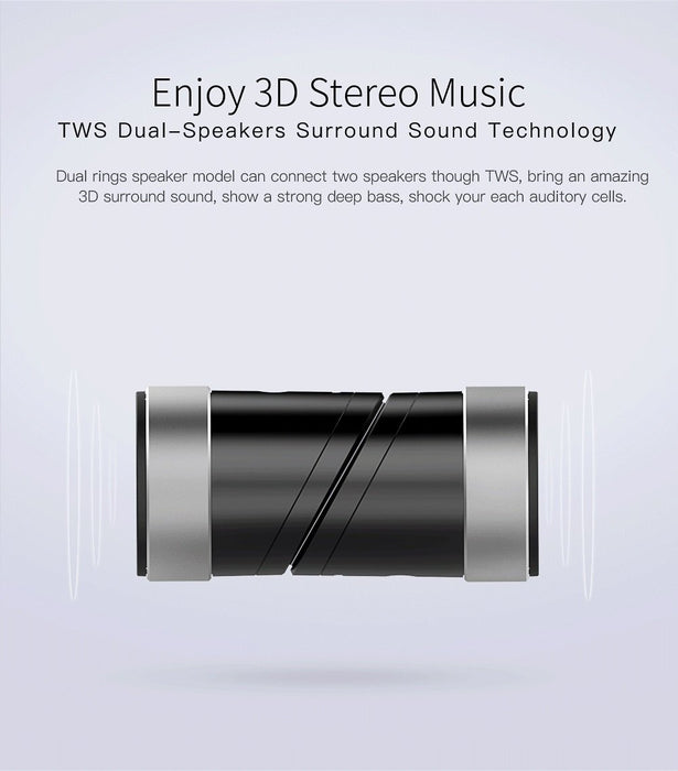 Dual Bluetooth speakers QCY BOX 1 3D, stereo