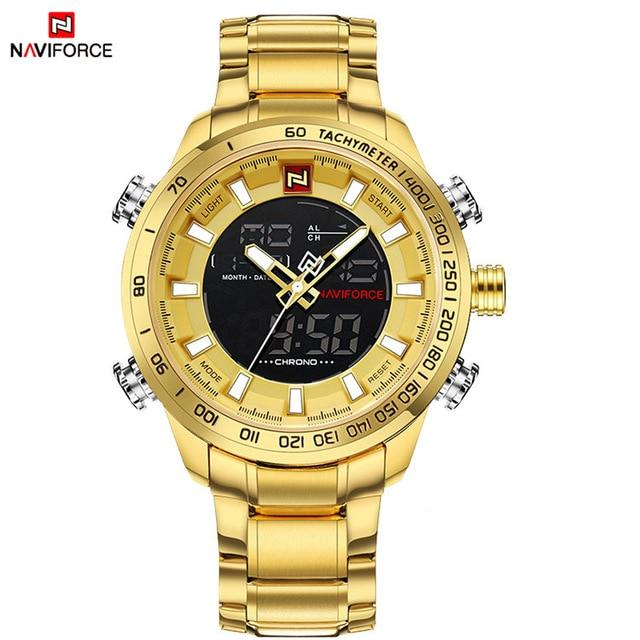 Waterproof male quartz watch NAVIFORCE 9093