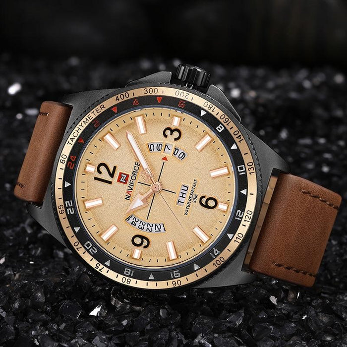 Waterproof male quartz watch NAVIFORCE 9103