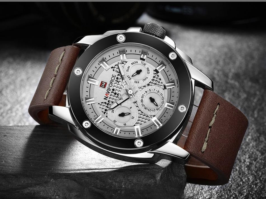 Waterproof male quartz watch NAVIFORCE 9116