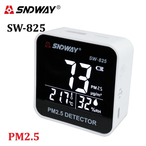 Digital Analyzer air quality SNDWAY SW-825 laser PM2.5 detector gas tester, temperature, humidity