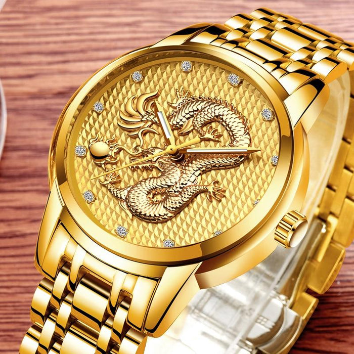 Waterproof male quartz watch LIGE 9850