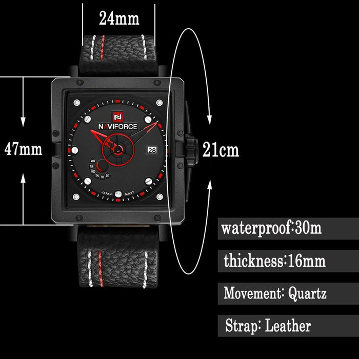 Waterproof male quartz watch NAVIFORCE 9065