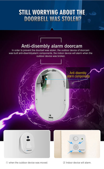 Bell Door camera WIFi RF2.4G and night vision VStarcam D1