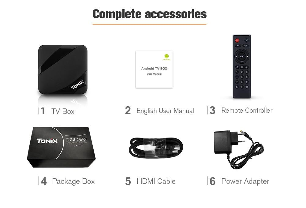 TV box Tanix TX3, Android 7.1, 2GB RAM, 16GB ROM, WiFi, Bluetooth 4.1