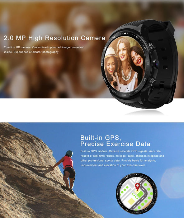 Zeblaze Thor PRO RX Edition Smart Watch, Camera, Heart Rate, 3G, GPS, Android 5.1,
