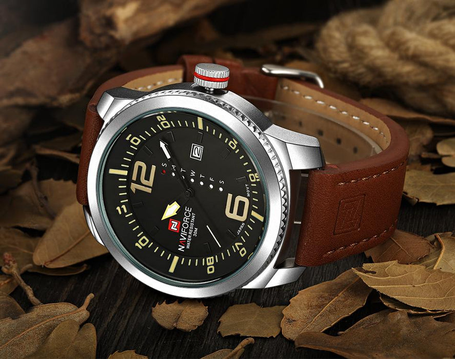 Waterproof male quartz watch NAVIFORCE 9063