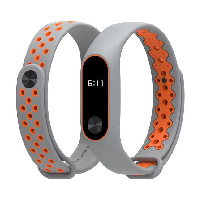 Dichromatic breathable silicone strap Xiaomi Mi Band 2