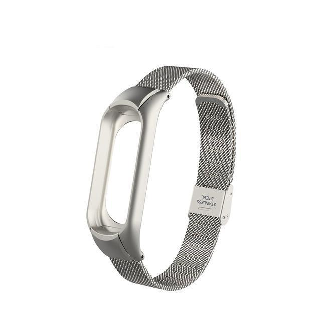 Breathable chain Stainless steel fastener for Xiaomi Mi Band 3 / Mi Band 4