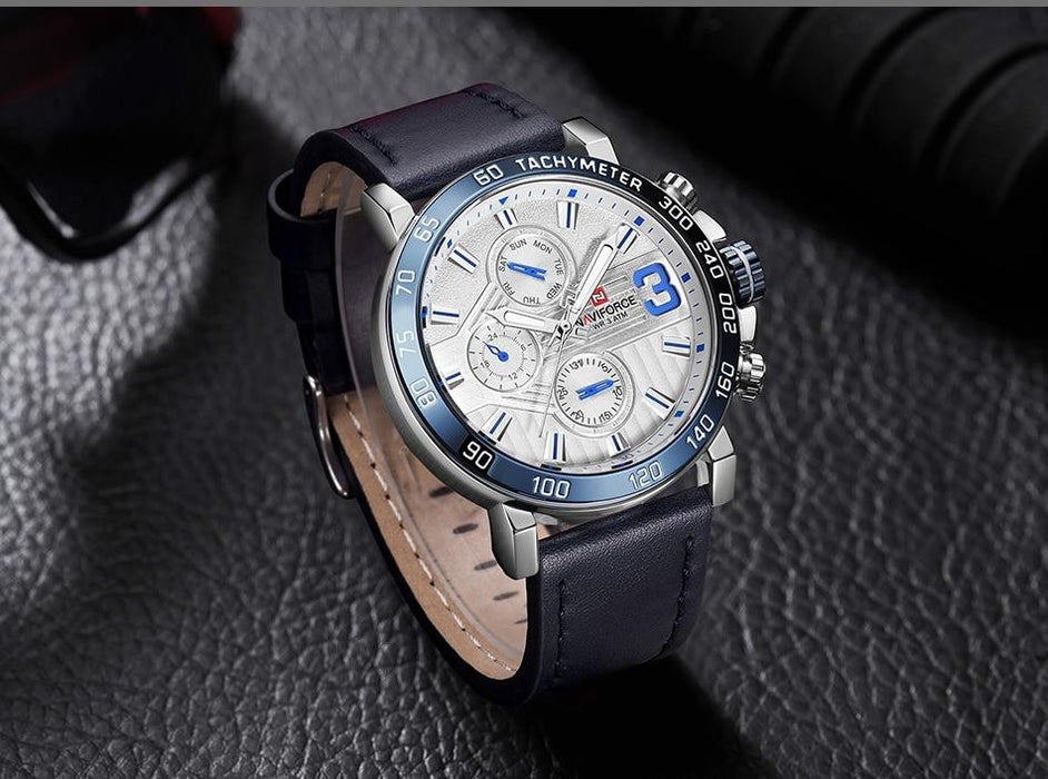 Waterproof male quartz watch NAVIFORCE 9137