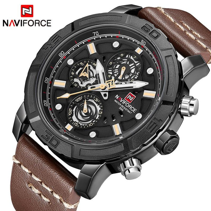 Waterproof male quartz watch NAVIFORCE 9139B
