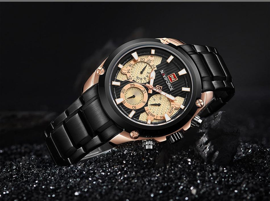 Waterproof male quartz watch NAVIFORCE 91,139