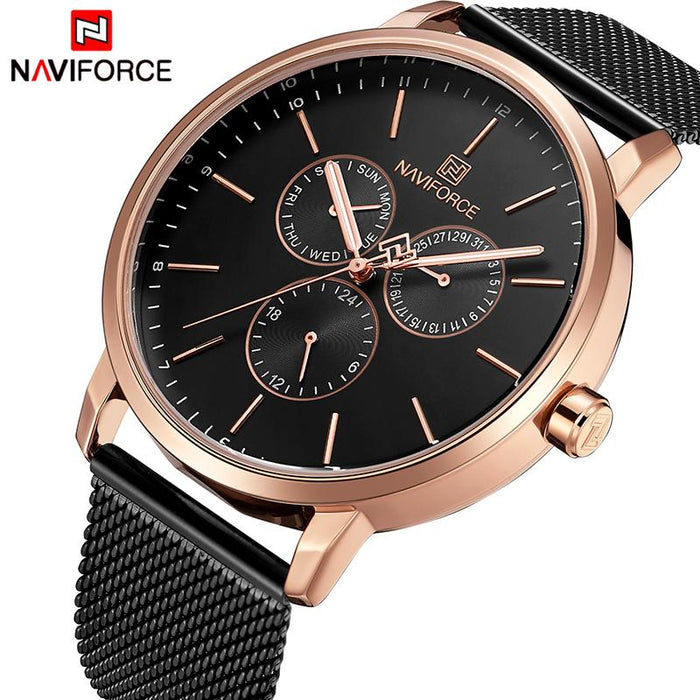Waterproof male quartz watch NAVIFORCE 3001