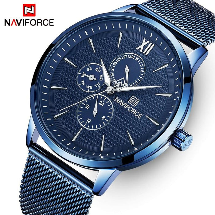 Waterproof men's quartz watch with NAVIFORCE 3003