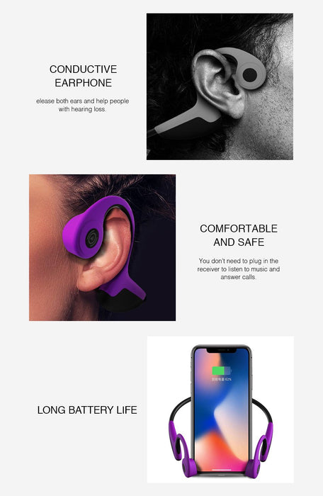 Wireless Headset Z8 Bluetooth 5.0, Bone Conduction