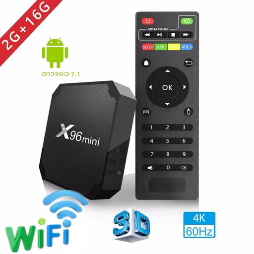 TV box X96, Android 7.1.2, 2GB RAM, 16GB ROM, WiFi, 4K