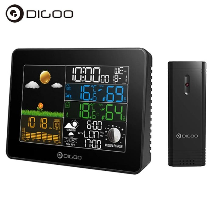 Home weather station Digoo DG-TH8868, hygrometer, thermometer, Weather, Barometer, Clock