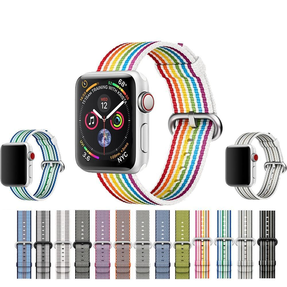 Knitted colorful sports strap for Apple Watch 3/2/1 38mm