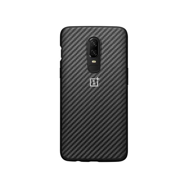 Original Oneplus impact resistant carrying case of carbon fibers with a velor interior of OnePlus 6