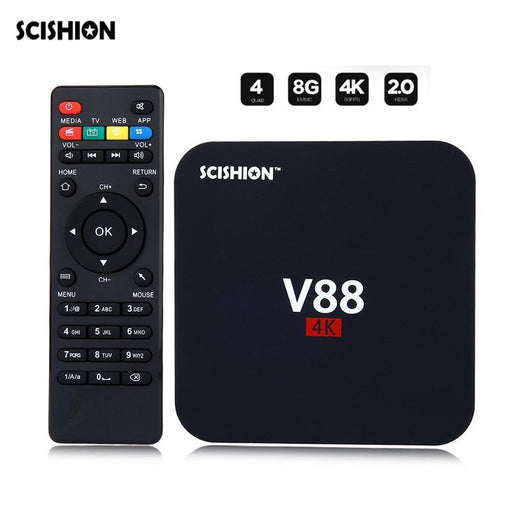 TV box Scishion V88, Android 7.1, 1GB RAM, 8GB ROM